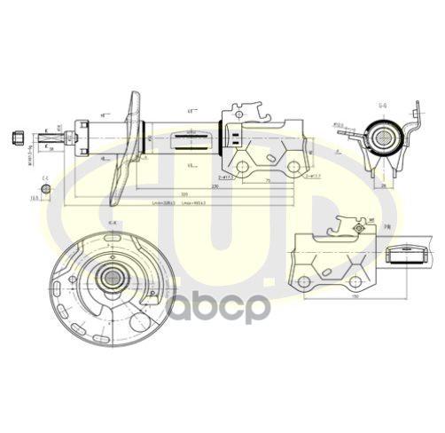 Амортизатор подвески G.U.D GSA339701