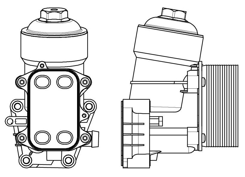 Радиатор масляный в сборе Tiguan (08 )/Transporter