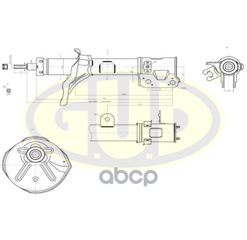 Амортизатор подвески G.U.D GSA339747