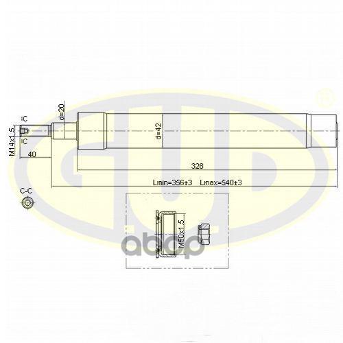 Амортизатор подвески G.U.D GSA664014