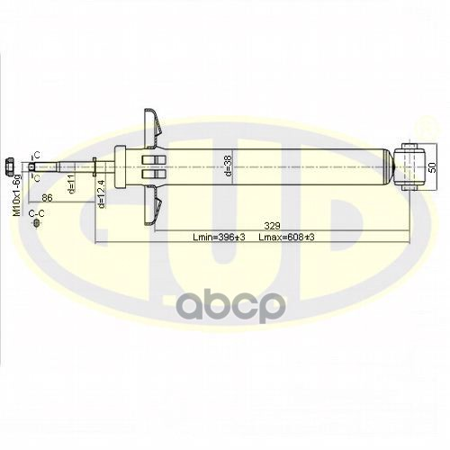 Амортизатор подвески G.U.D GSA343223
