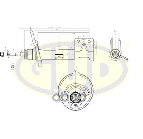 Амортизатор подвески G.U.D GSA333768