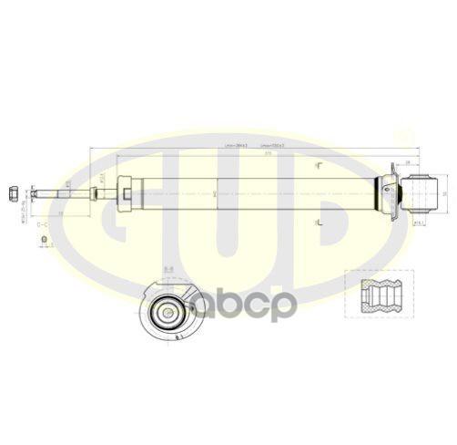 Амортизатор подвески G.U.D GSA441083