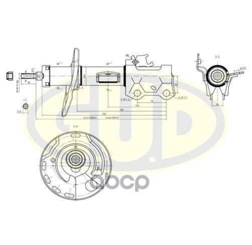 Амортизатор подвески G.U.D GSA339700