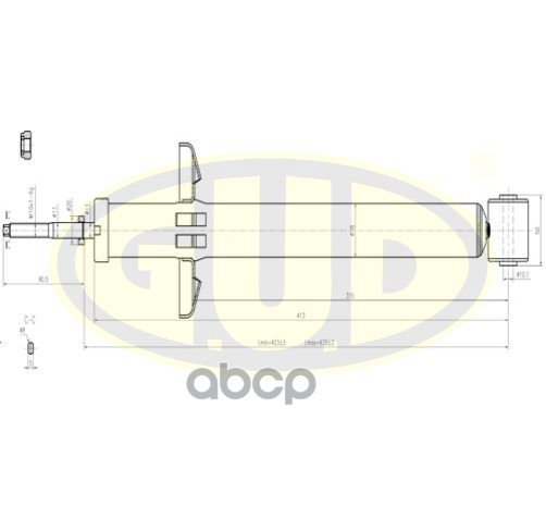 Амортизатор подвески G.U.D GSA343191