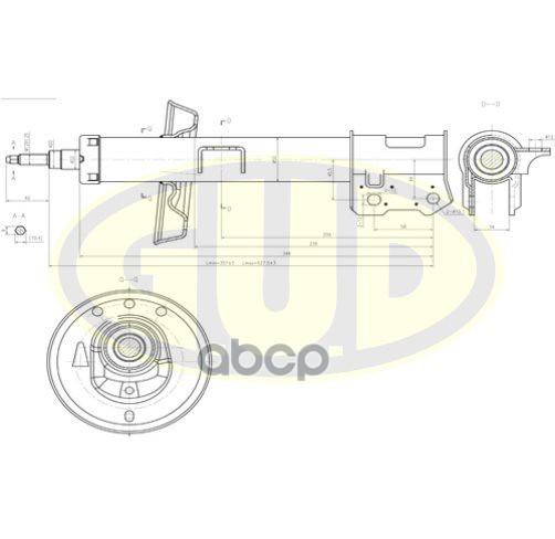 Амортизатор подвески G.U.D GSA334847