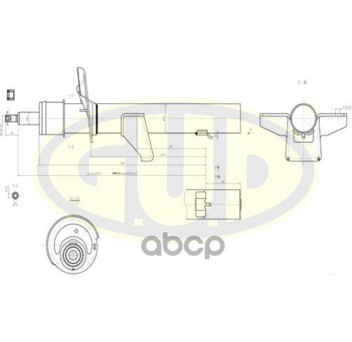 Амортизатор подвески G.U.D GSA339759