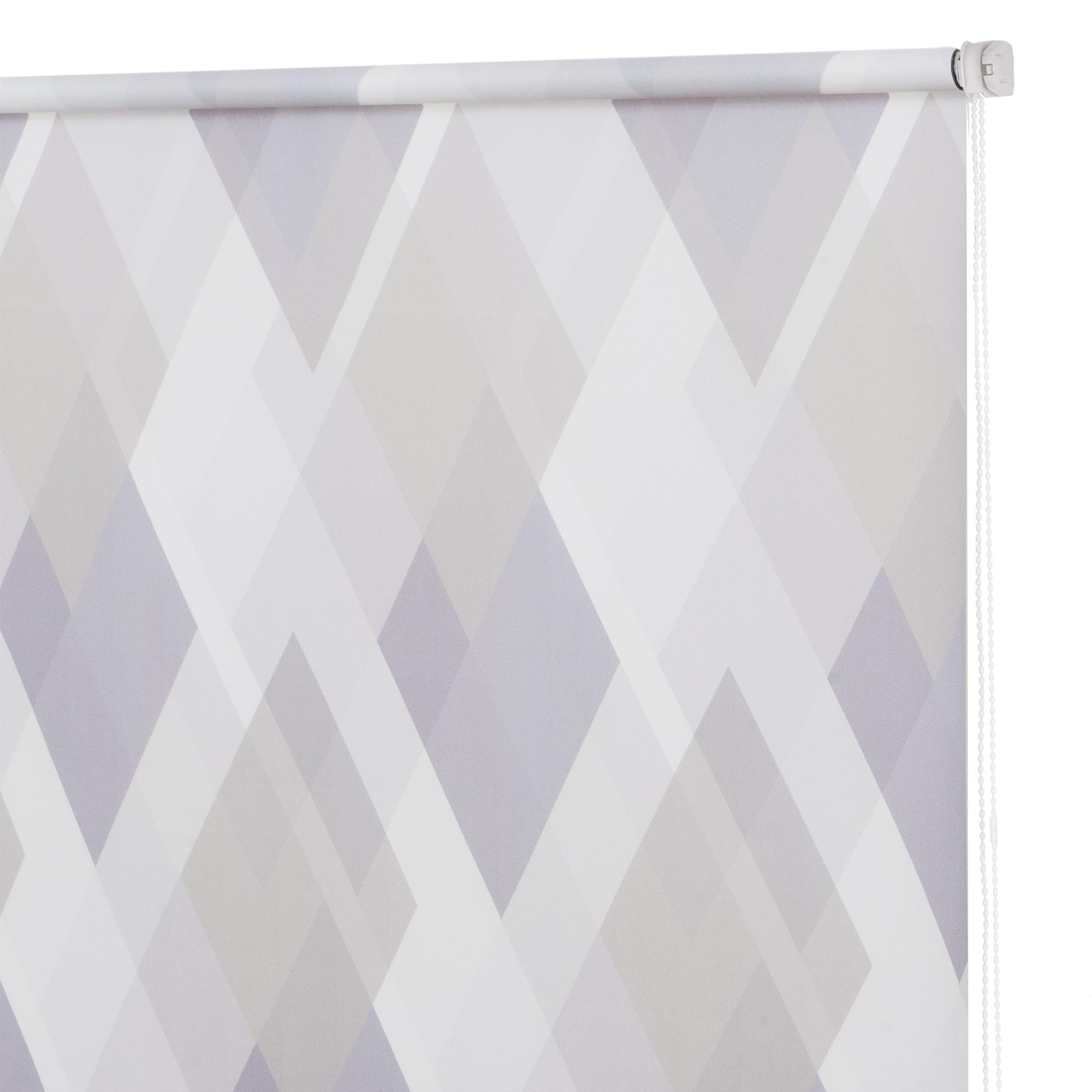 Рулонная штора Decofest Принт Ромбы Серо-фиолетовый 40x160