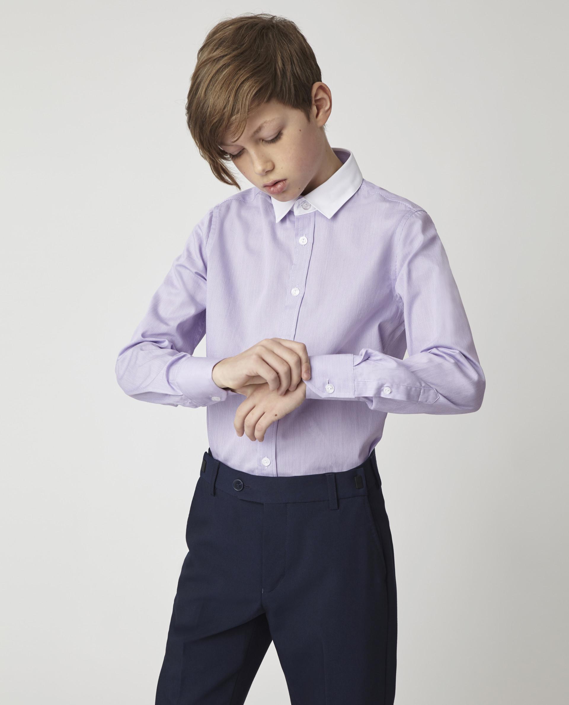 Купить Сиреневая рубашка Gulliver 220GSBC2317, размер 170, Рубашки для мальчиков