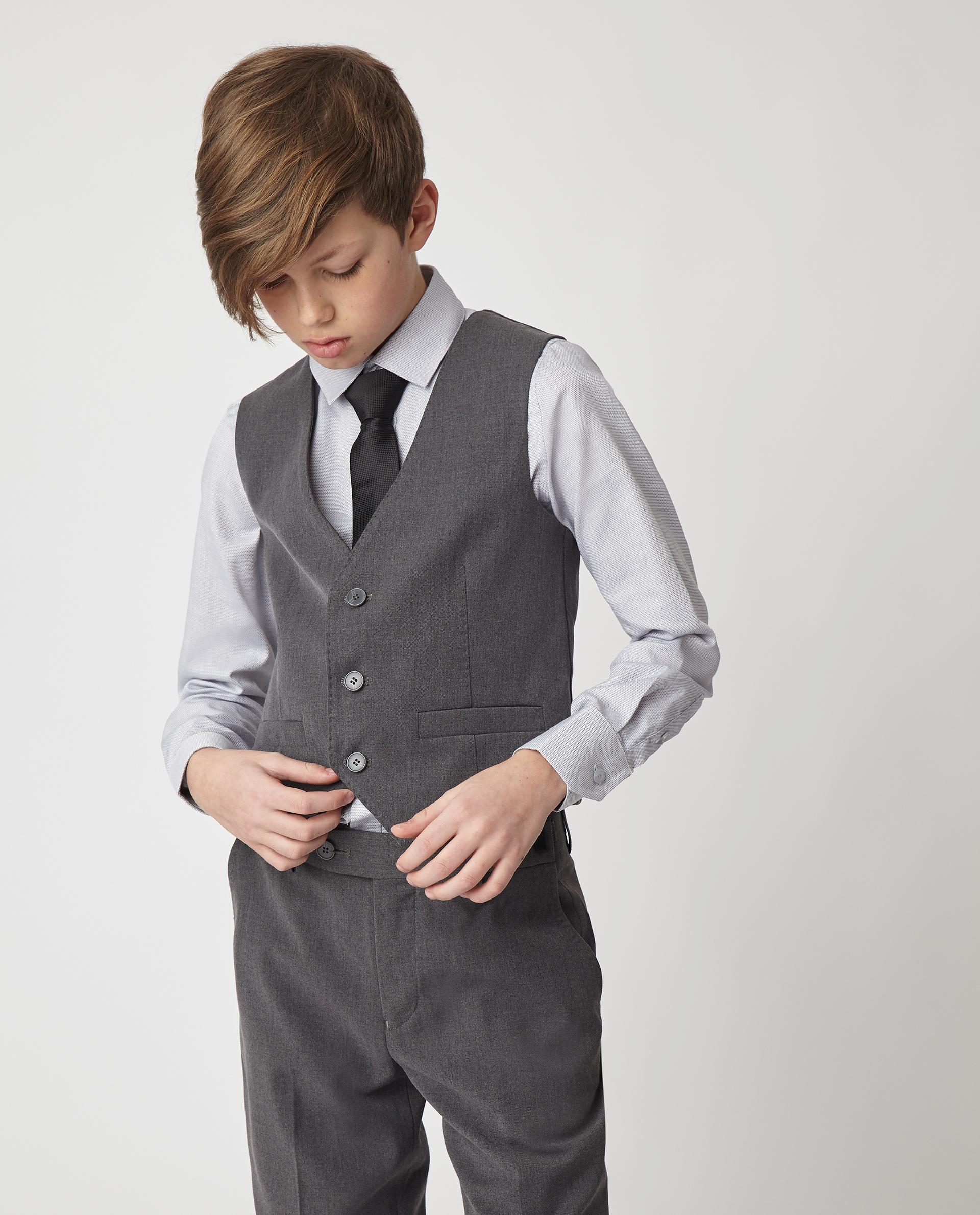 Купить Серый жилет Gulliver 220GSBC4705, размер 170, Жилеты для мальчиков