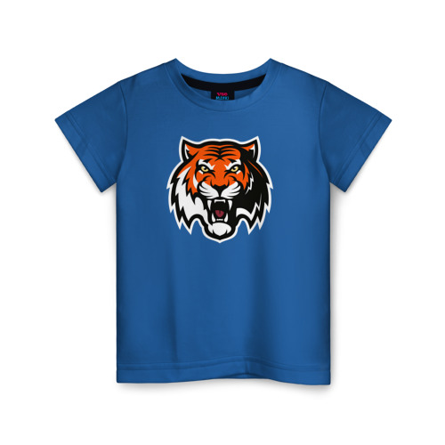 Купить Хлопок ХК Амур Тигр - 1642193, Детская футболка ВсеМайки ХК Амур Тигр, размер 140, VseMayki.ru,