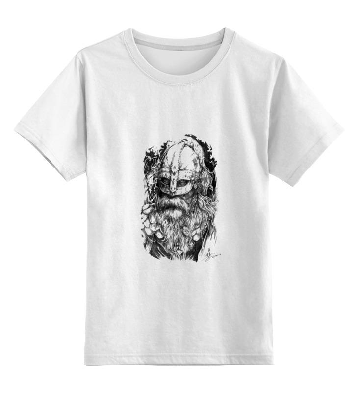 0000000777863, Детская футболка Printio Путь воина цв.белый р.116,  - купить со скидкой