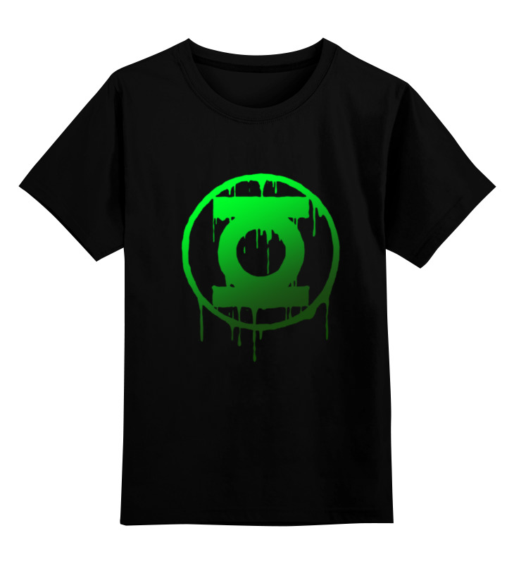 Детская футболка Printio Зеленый фонарь цв.черный р.116 0000000769975 по цене 990