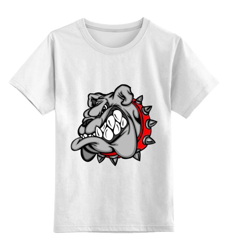 Детская футболка Printio Бульдог цв.белый р.116 0000000768277 по цене 790