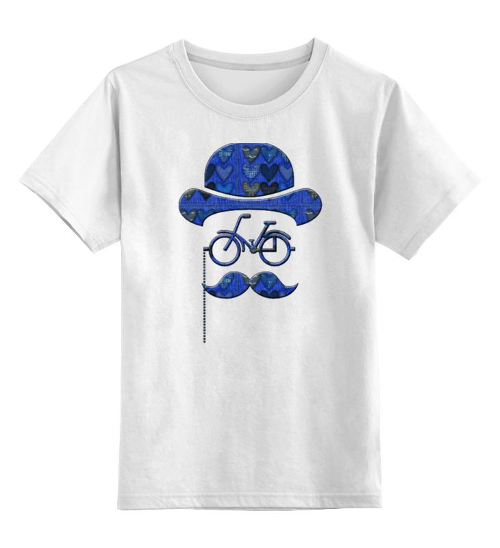 Детская футболка Printio Влюбленный велосипедист цв.белый р.128 0000000782023 по цене 790
