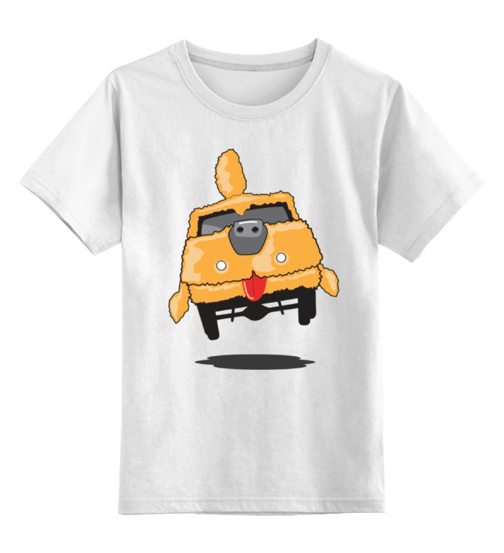 Купить 0000000773764, Детская футболка Printio Тупой и еще тупее 2 цв.белый р.128,