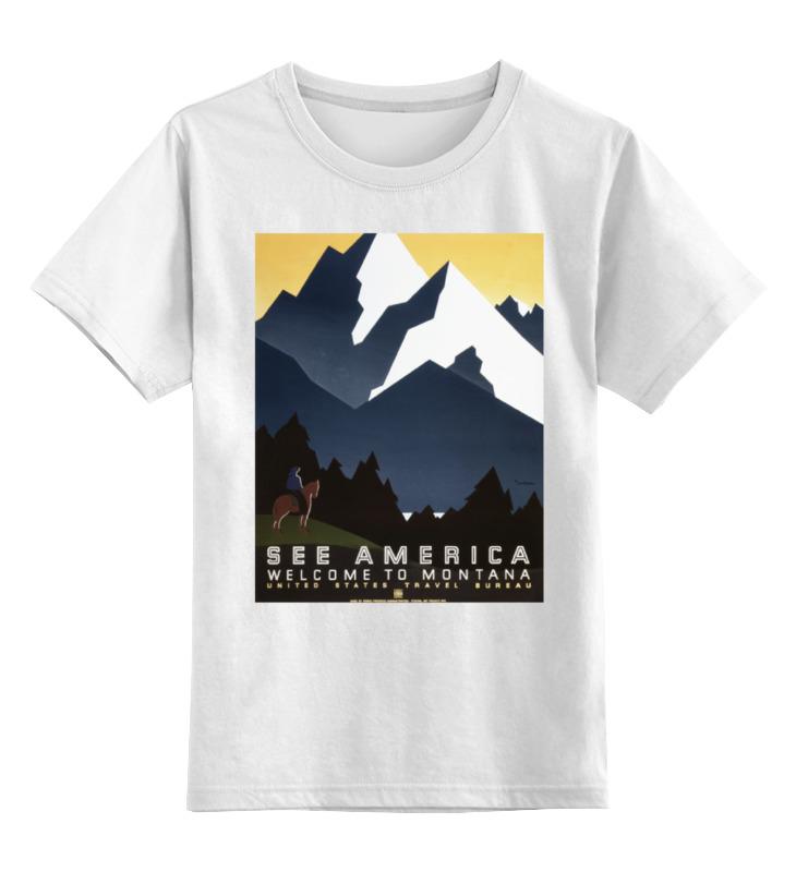 Детская футболка Printio Ретро плакаты цв.белый р.128 0000000773550 по цене 790