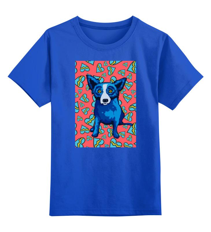 Купить 0000000770289, Детская футболка Printio Синий пес цв.синий р.128,