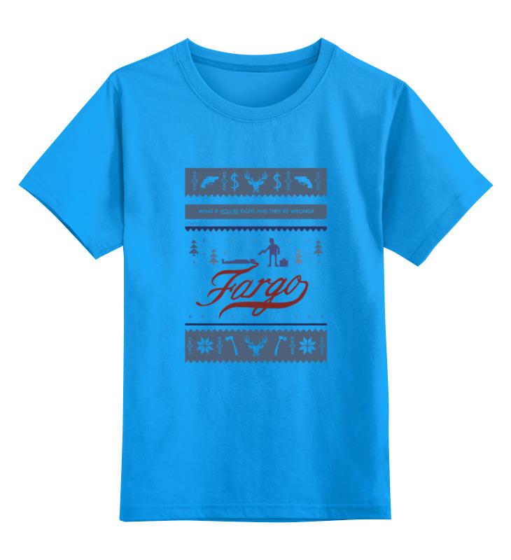 Детская футболка Printio Fargo фарго цв.голубой р.140 0000000782740 по цене 990