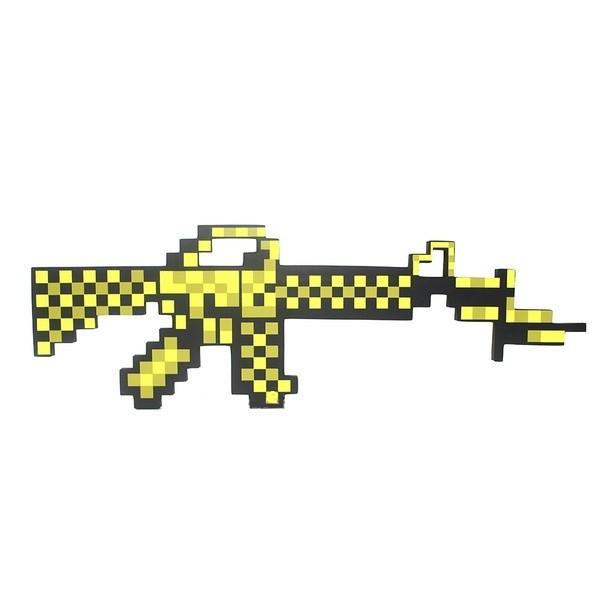 Автомат пиксельный золотой (пенный наполнитель) из Майнкрафт