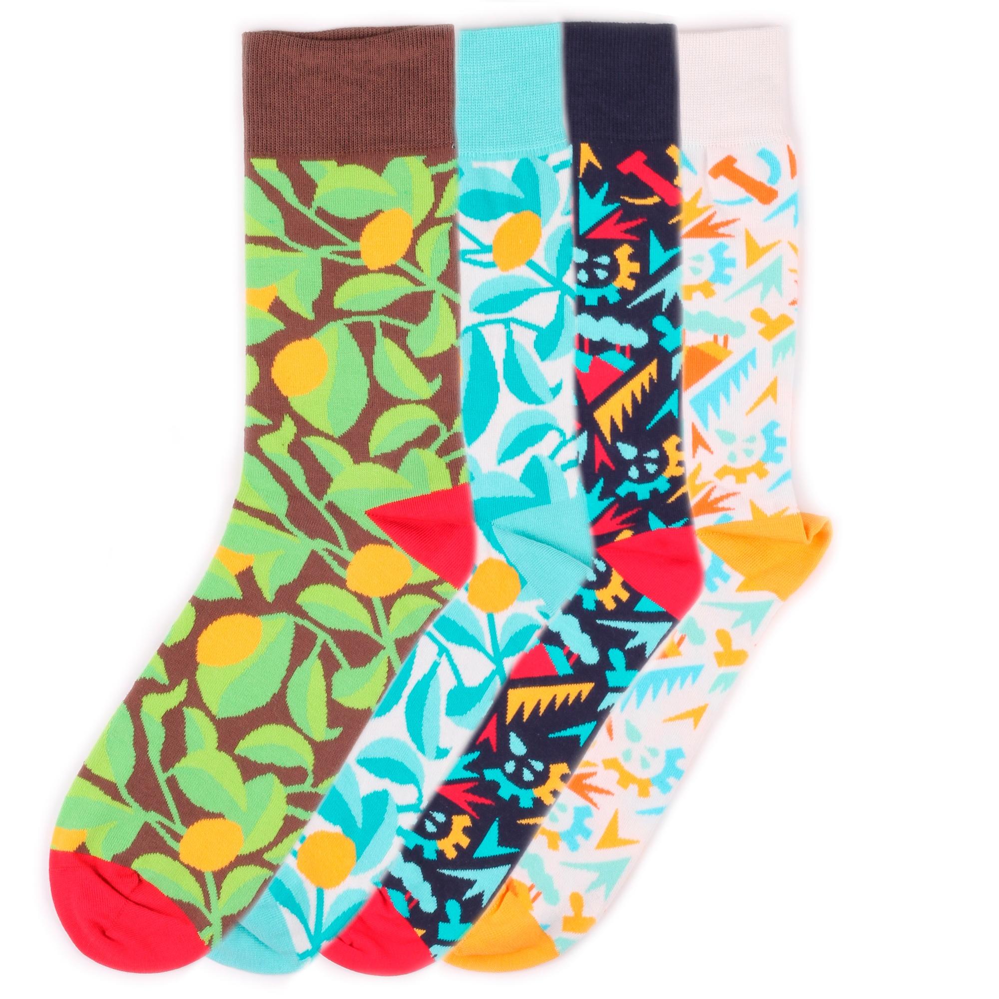 Набор носков Burning heels Lemons Industry разноцветный 39-41