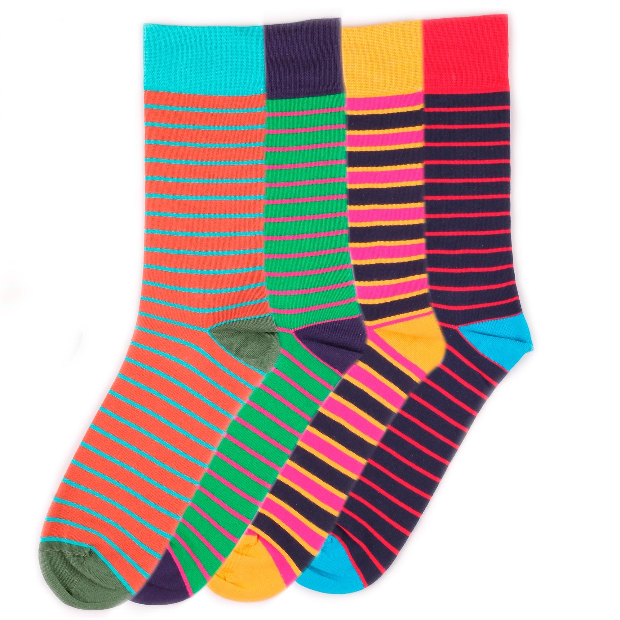 Набор носков Burning heels Horizontal Stripes разноцветный 39-41