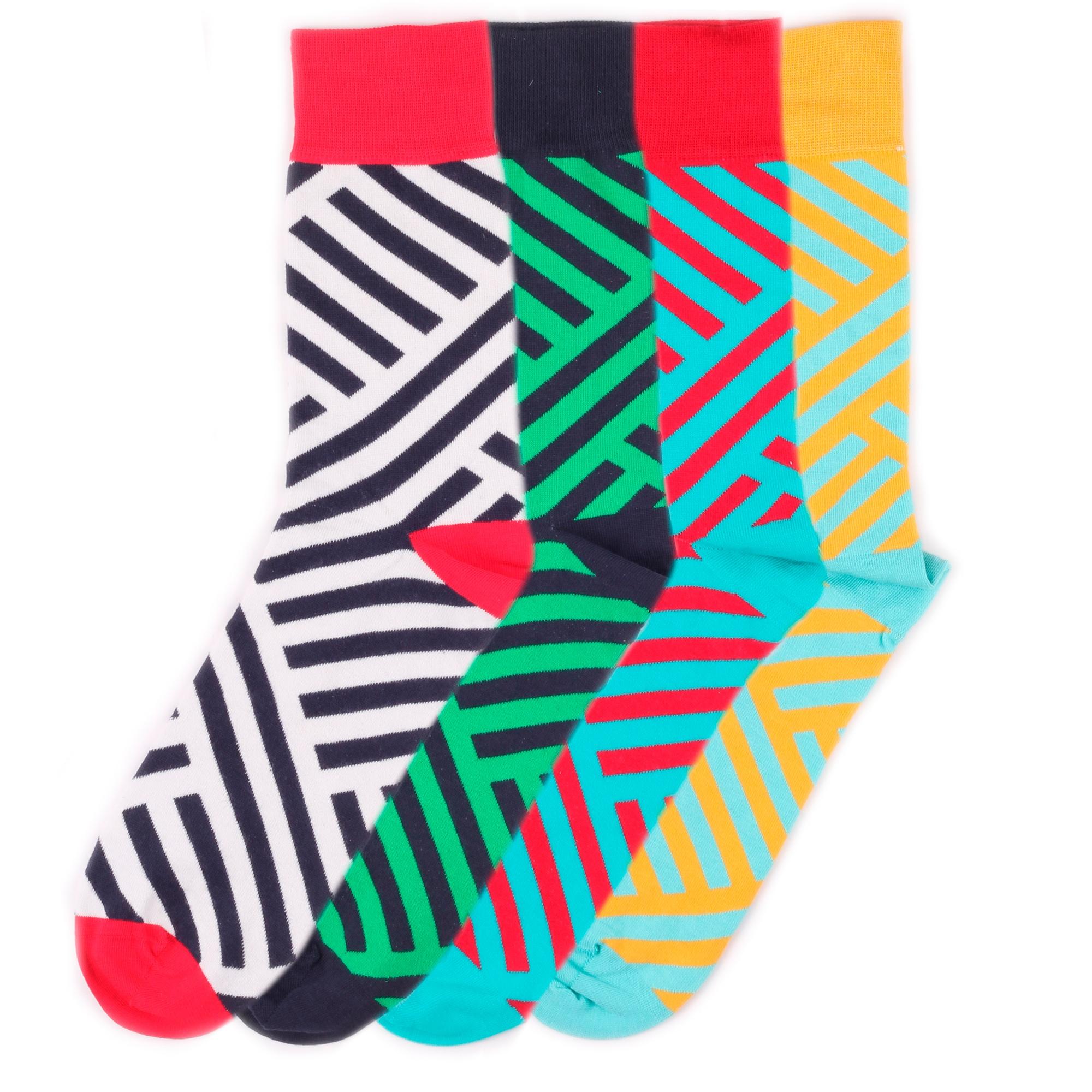 Набор носков Burning heels Diag Stripes разноцветный 39-41