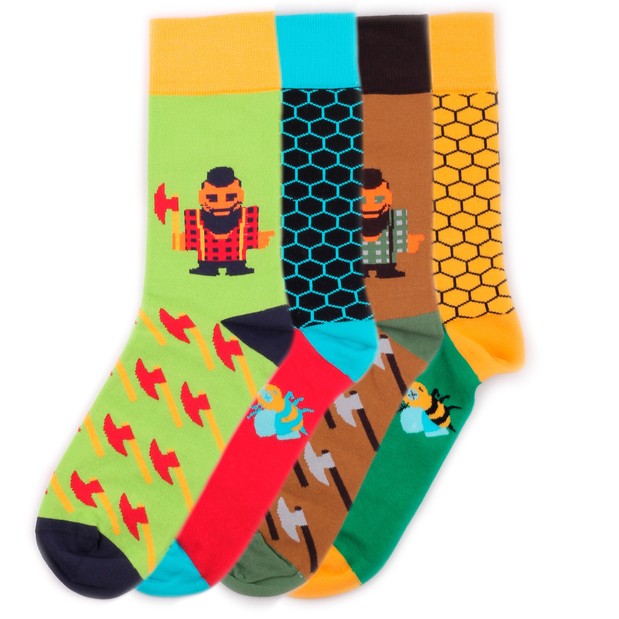 Набор носков Burning heels Bees Lumberjack разноцветный 39-41