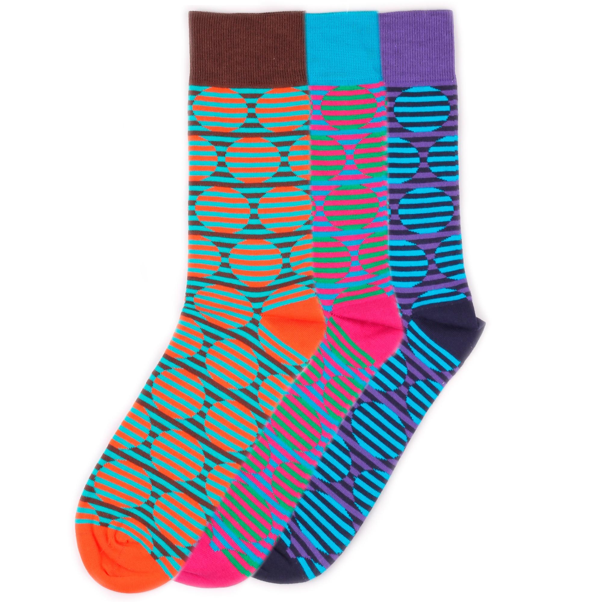 Набор носков Burning heels Circles разноцветный 36-38