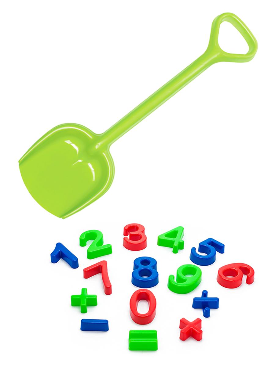 Купить Набор для песочницы Karolina Toys Арифметика + Лопатка 50 см. салатовая,