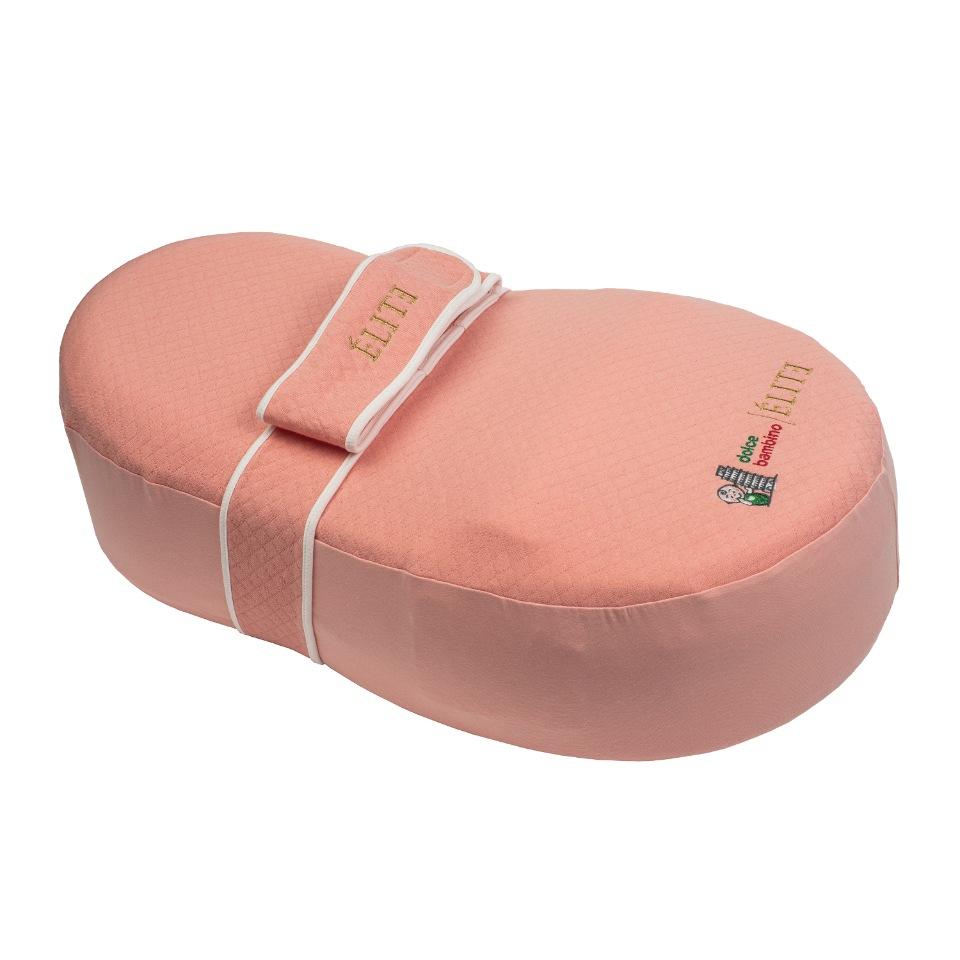 Купить Кокон для новорожденных Dolce bambino ELITE Plus с функцией вибромассажа цвет Пудровый,