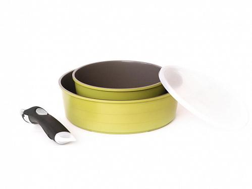 Набор посуды Oliva mini, FRYBEST, кастрюля 20см, жаровня 26см, крышка 20см, Oliva-4PC