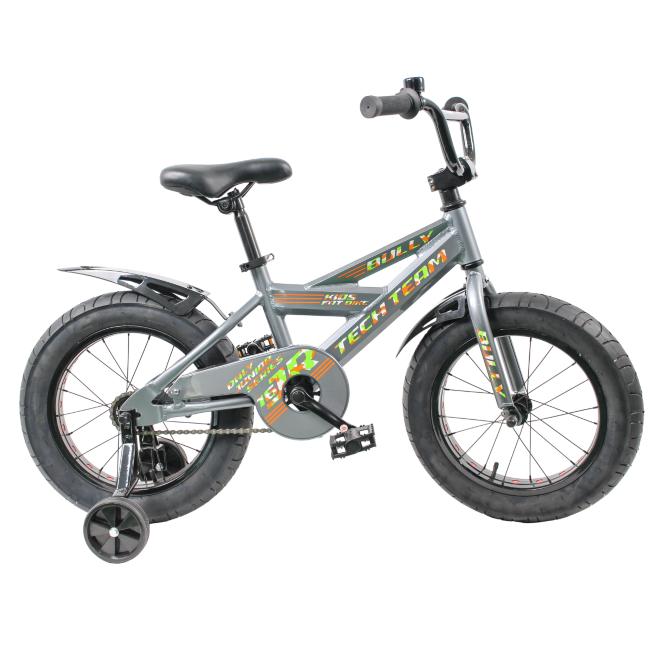 Детский велосипед фэтбайк Tech Team Bully 16 зеленый