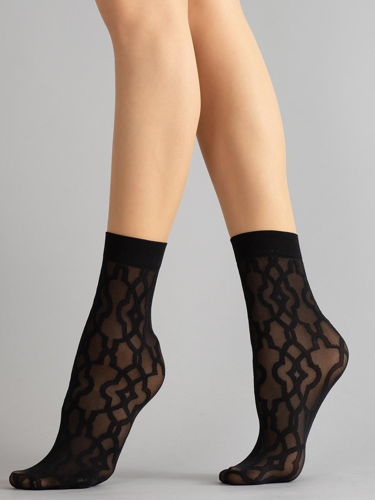 Капроновые носки женские Giulia RDN 01 черные UNI