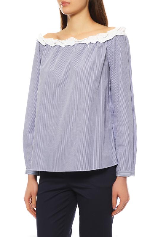 Блуза женская Max&co 61119217 синяя 40
