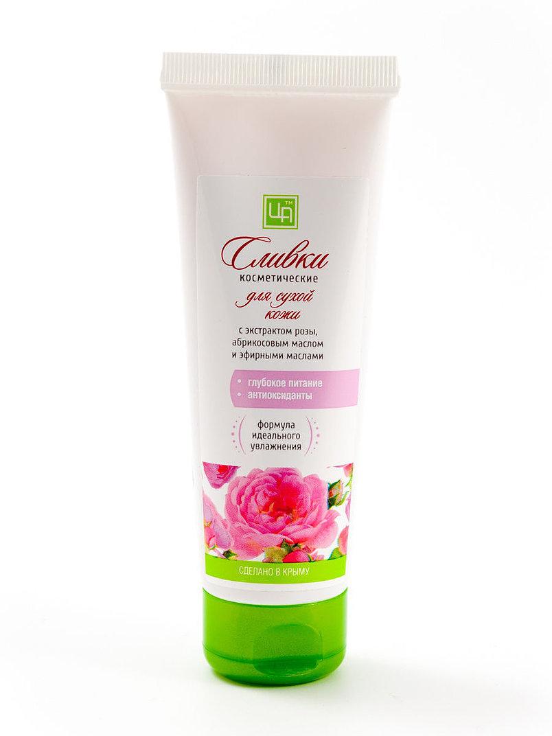 Купить Сливки косметические Царство ароматов для сухой кожи с экстрактом розы