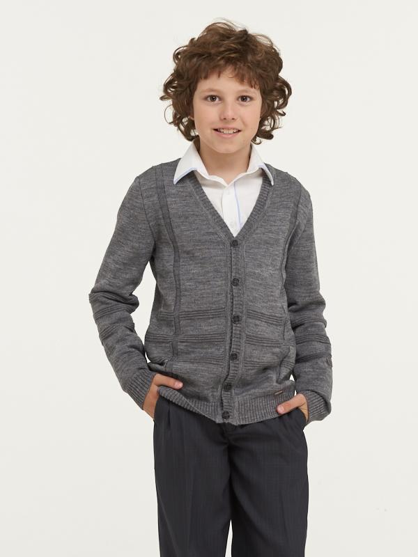Жакет для мальчиков 183 7092 VAY цв.серый
