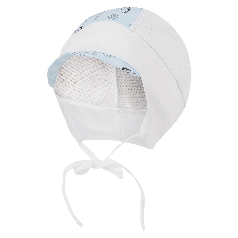 Шапка детская Magrof 2643 белый/голубой р.36