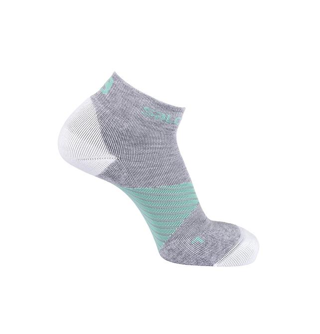 Носки Salomon SPEED PRO серые; белые; зеленые M