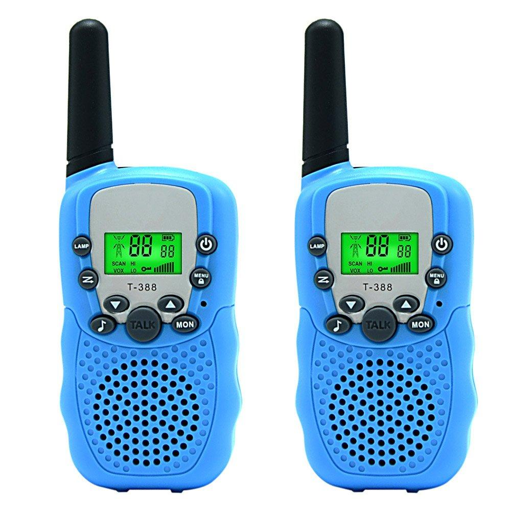 Набор 2-х портативных раций с двусторонней связью с ЖК-дисплеем детских, голубые GK0006B Walkie Talkie