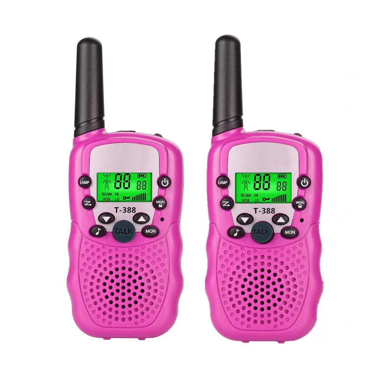 Набор 2-х портативных раций с двусторонней связью с ЖК-дисплеем детских, розовые GK0006A Walkie Talkie