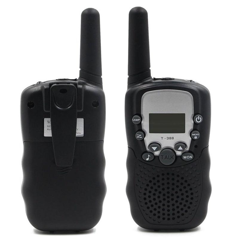 Набор 2-х портативных раций с двусторонней связью с ЖК-дисплеем детских, черные GK0006C Walkie Talkie
