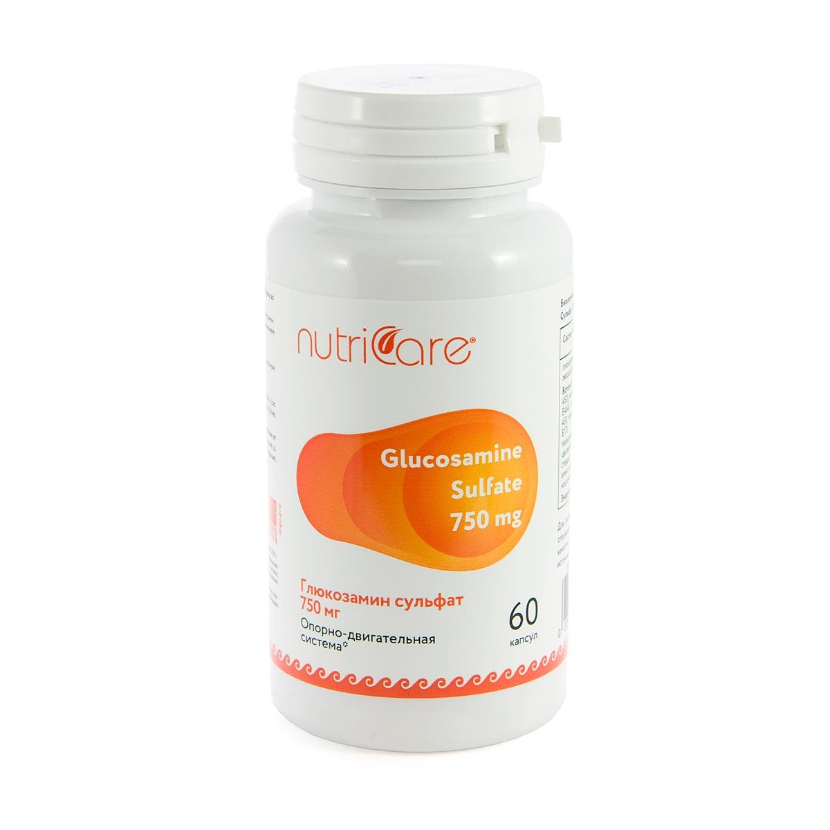 Глюкозамин Сульфат 750 мг NutriCare Int. капсулы 60 шт.