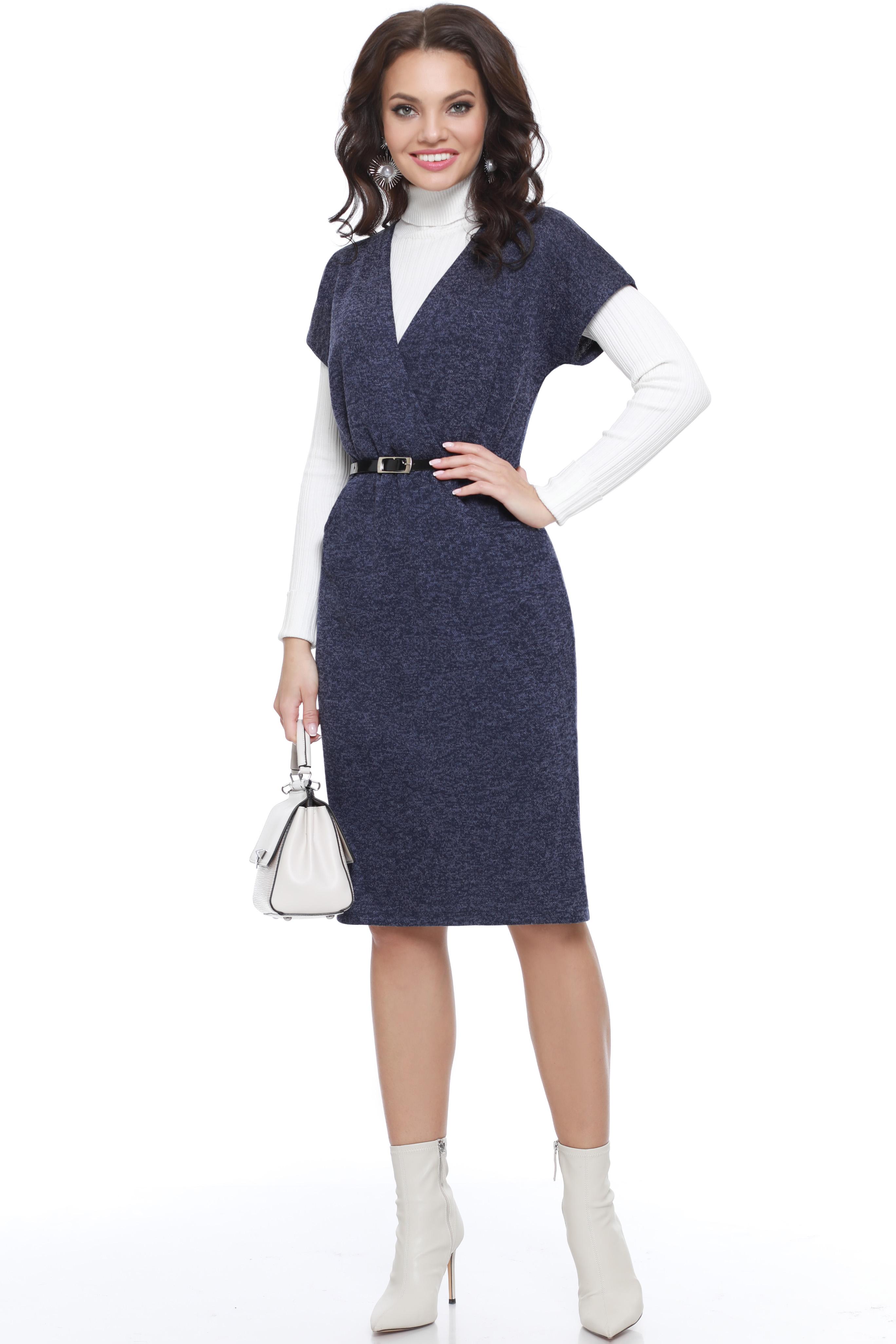 Платье женское Миллена Шарм 94 синее 52 RU