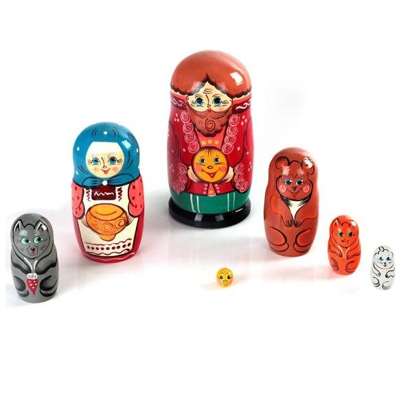 Купить Матрешка РНИ Колобок, 7 в 1 Р-45/742, Русские народные игрушки,