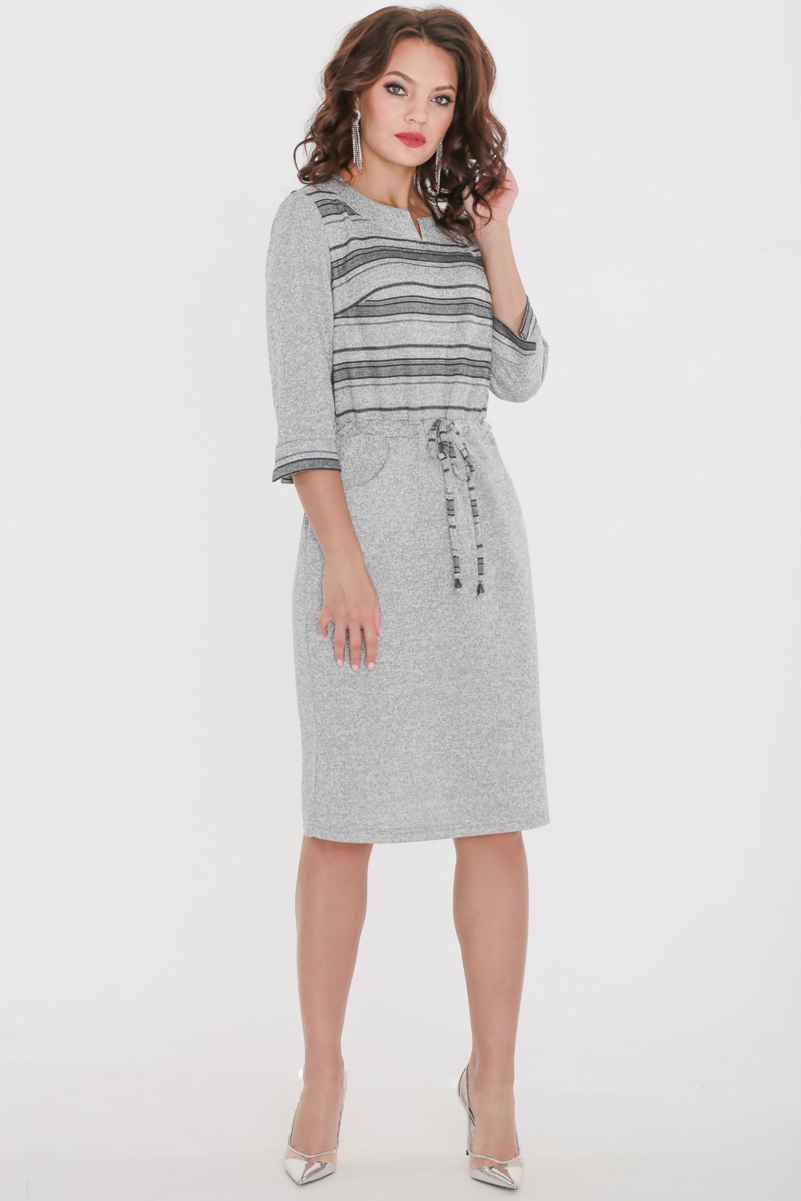 Платье женское Миллена Шарм 500 серое 56 RU