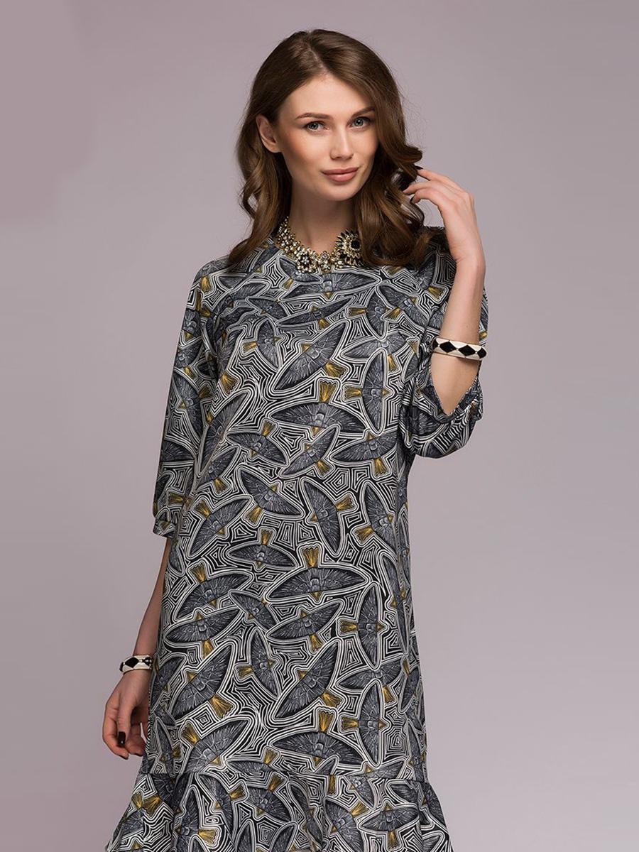 Повседневное платье женское 1001dress DM00749BK черное 42