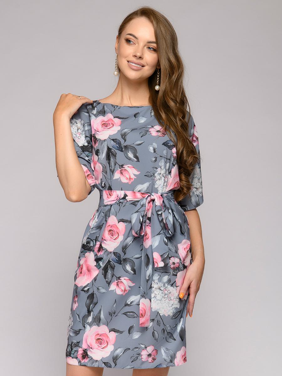 Повседневное платье женское 1001DRESS 0122002-01652GF серое 40