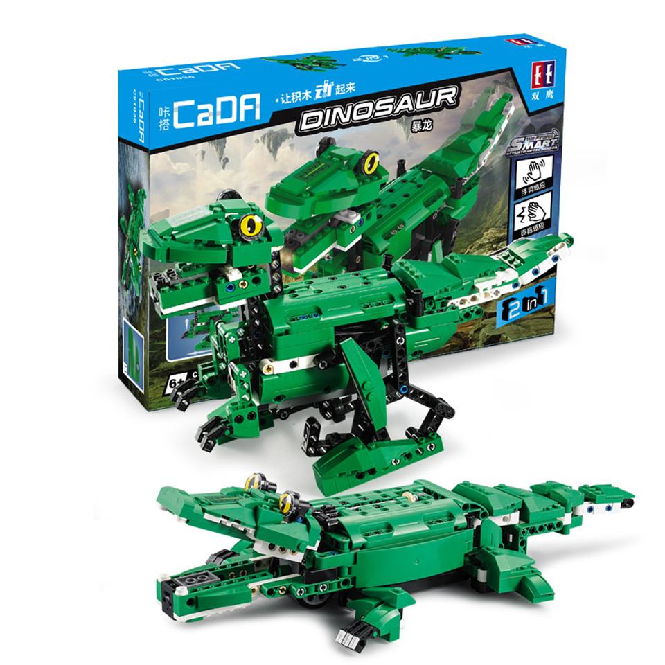 Купить Конструктор Double Eagle Динозавр + Крокодил, 2 в 1, 450 дет., в коробке C51035W,