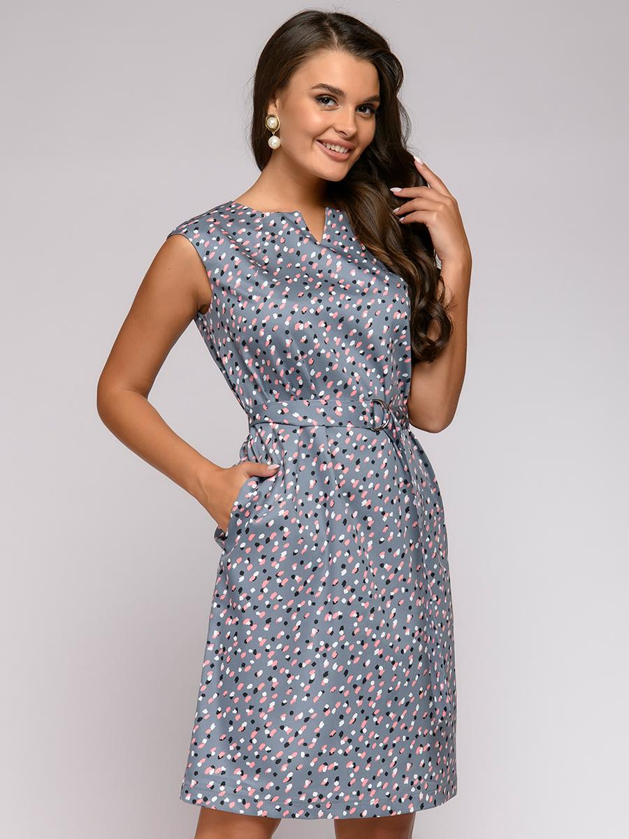 Повседневное платье женское 1001dress 0122001-01947GP серое 42